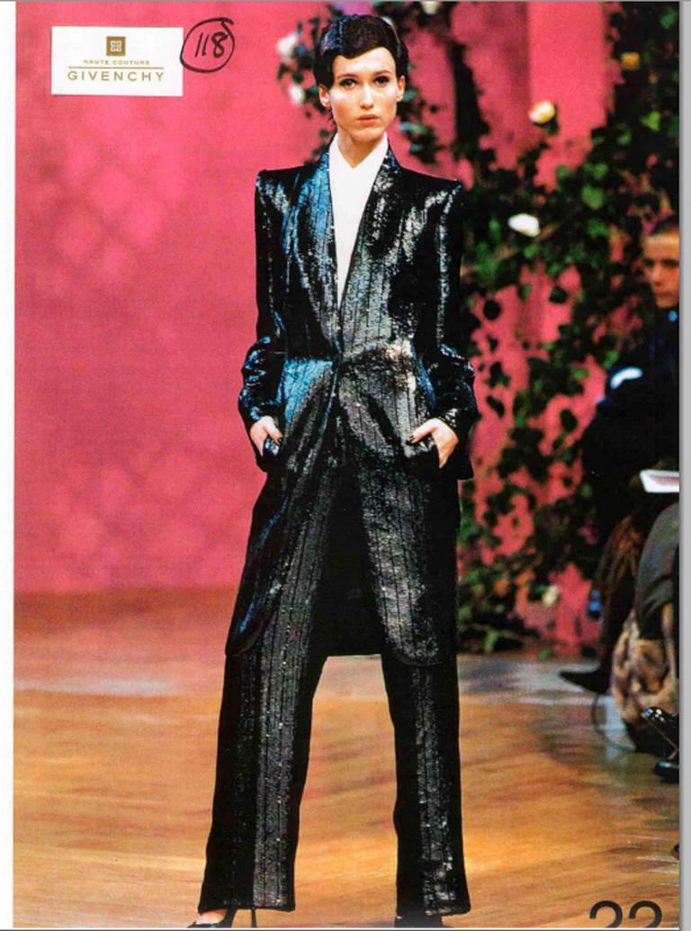 Alexander McQueen Givenchy Haute Couture Black Lesage ...
