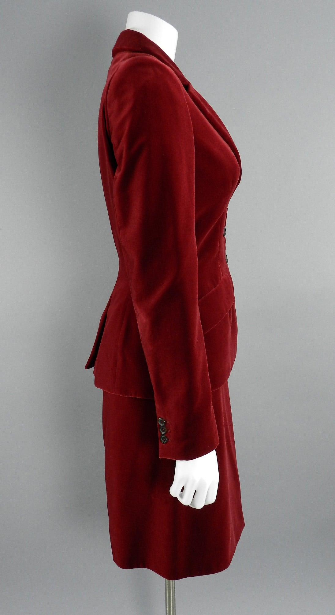 Velvet Skirt Suit 65