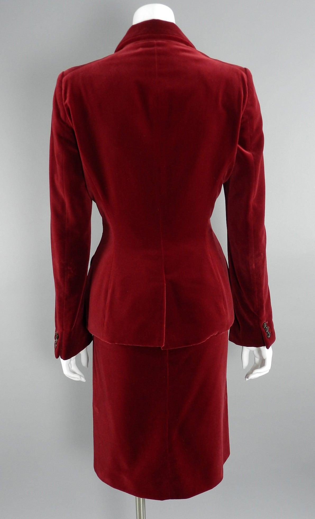 Velvet Skirt Suit 82