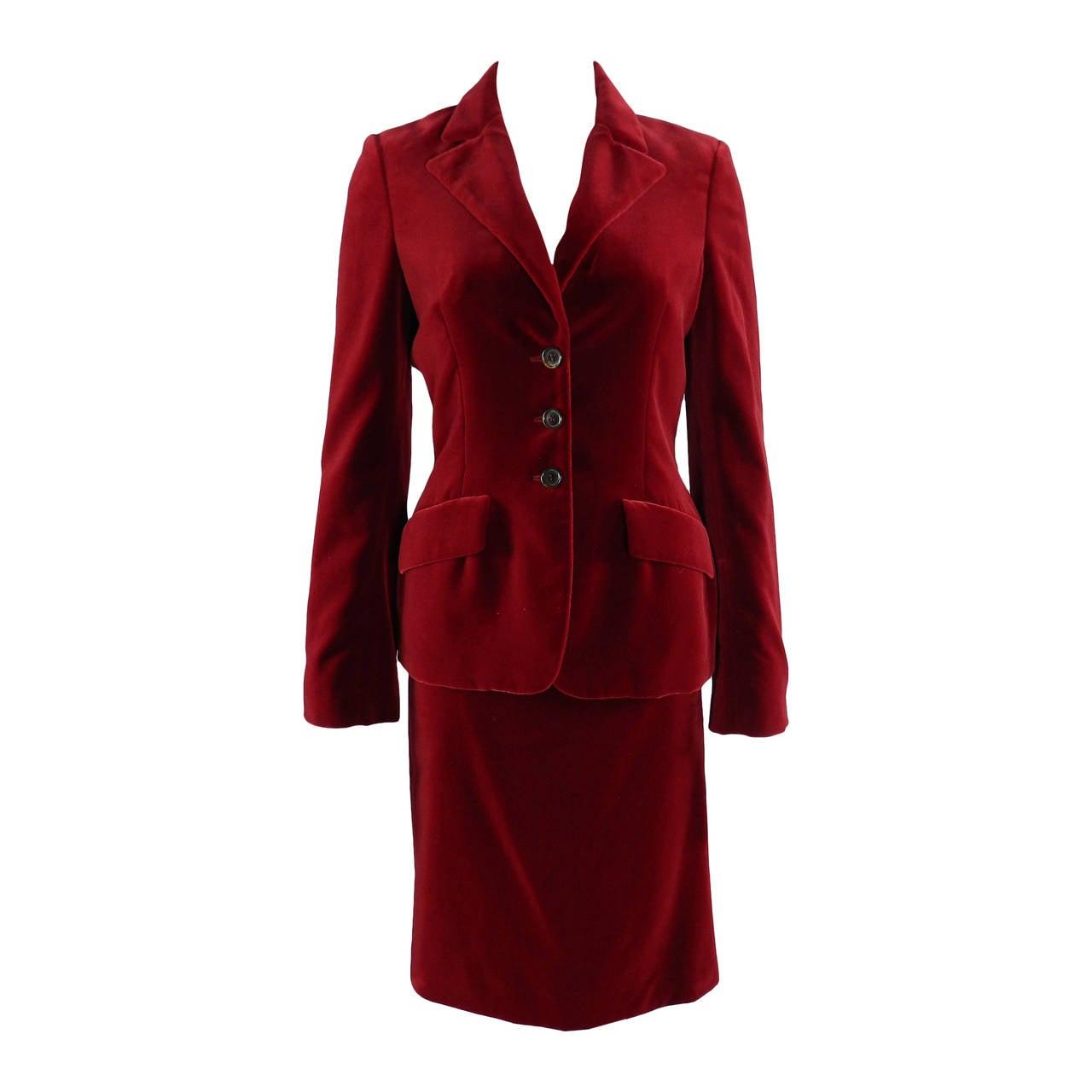 Velvet Skirt Suit 108