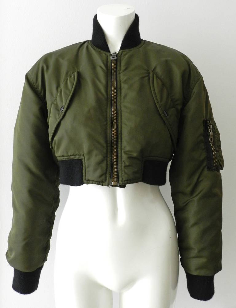 Jean Paul Gaultier 1990's Vintage Cropped Bomber Jacket 2
