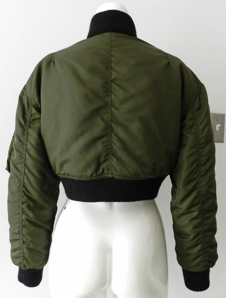 Jean Paul Gaultier 1990's Vintage Cropped Bomber Jacket 4
