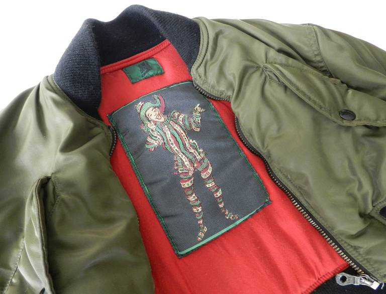 Jean Paul Gaultier 1990's Vintage Cropped Bomber Jacket 5