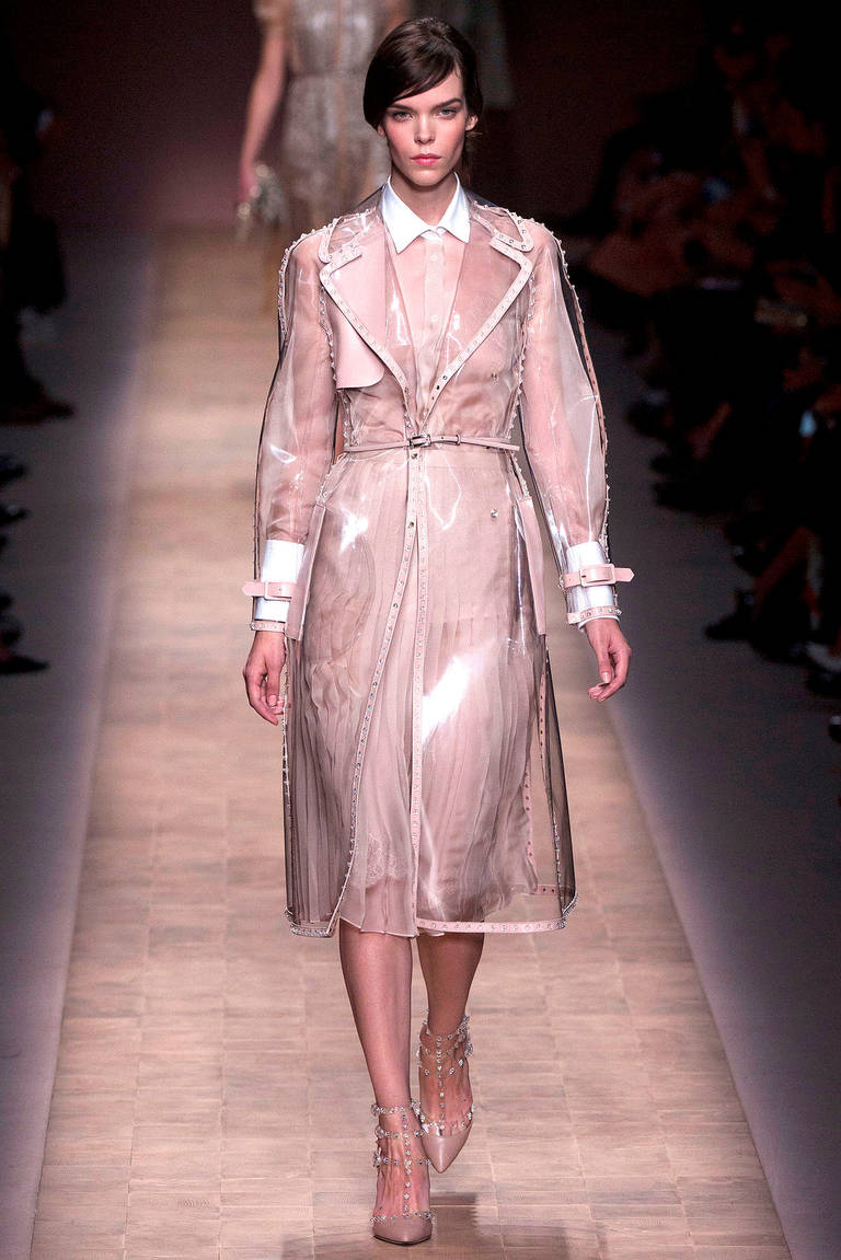 Valentino SS 13 Clear Vinyl Rock Stud Trench Coat at 1stdibs