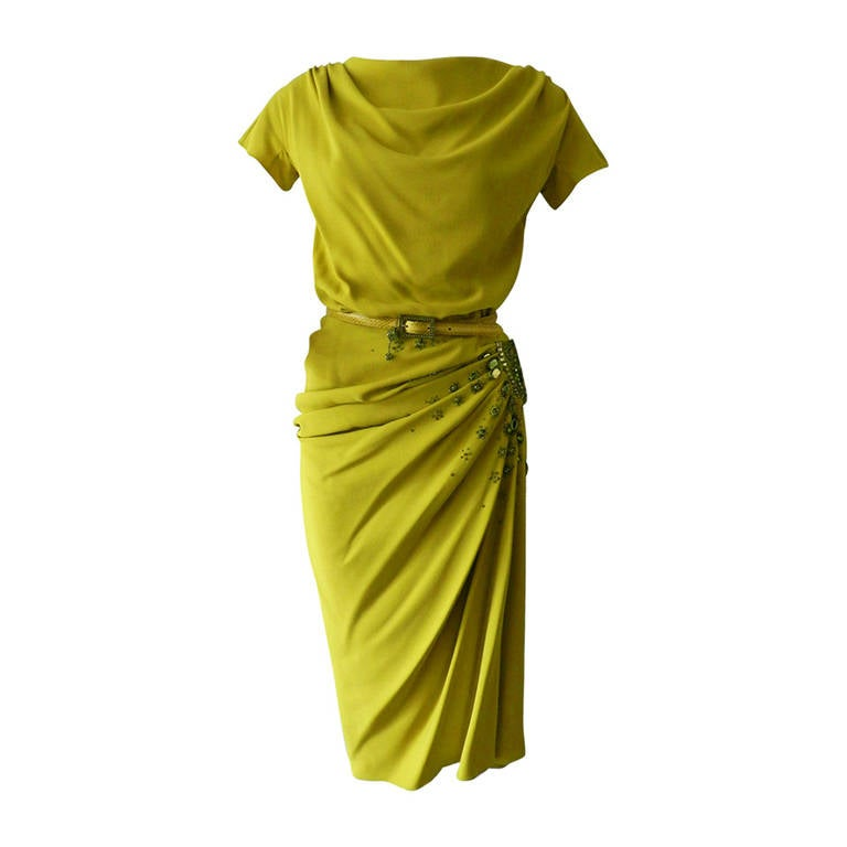 John galliano for christian dior 2007 f w chartreuse for Dior couture dress price