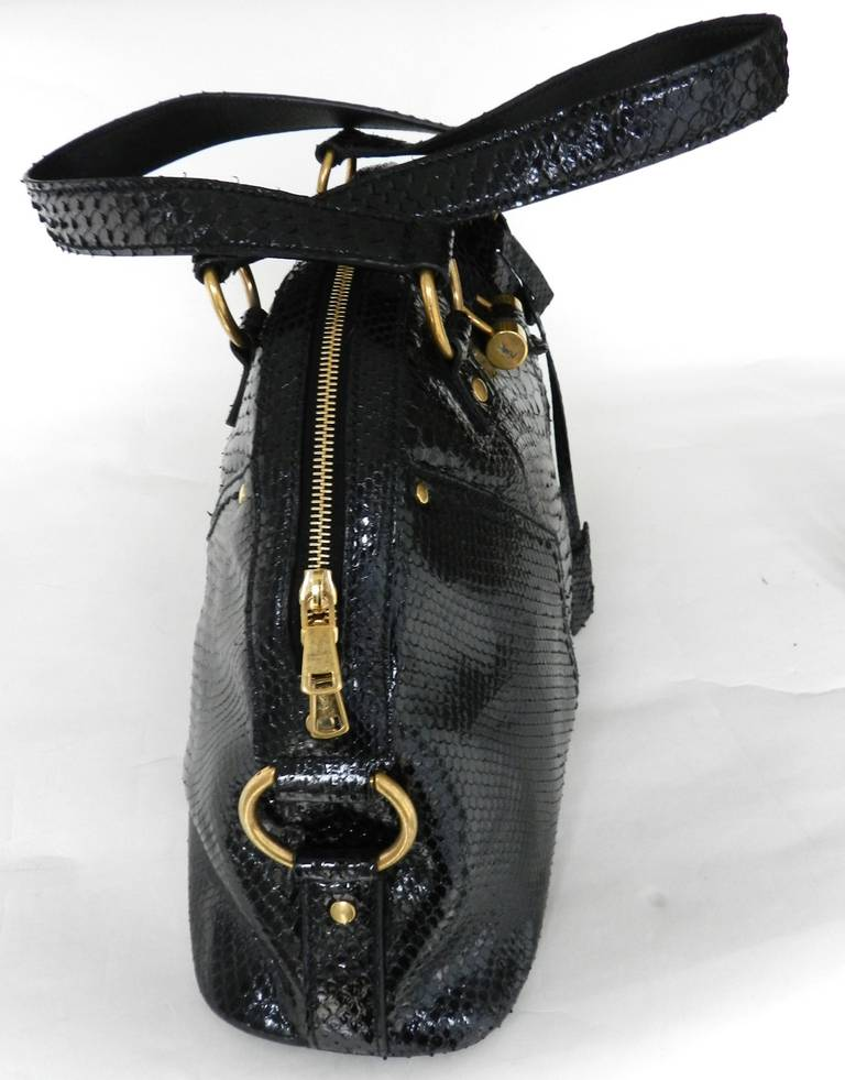YSL Black Python Muse Bag at 1stdibs