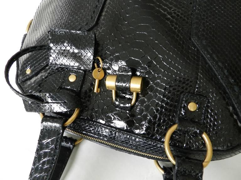 YSL Black Python Muse Bag at 1stdibs 8953ab0abc32d