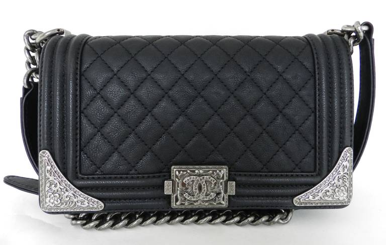 Chanel Pre Fall 2017 Dallas Collection Medium Boy Flap Bag With Embellished Sides Comes