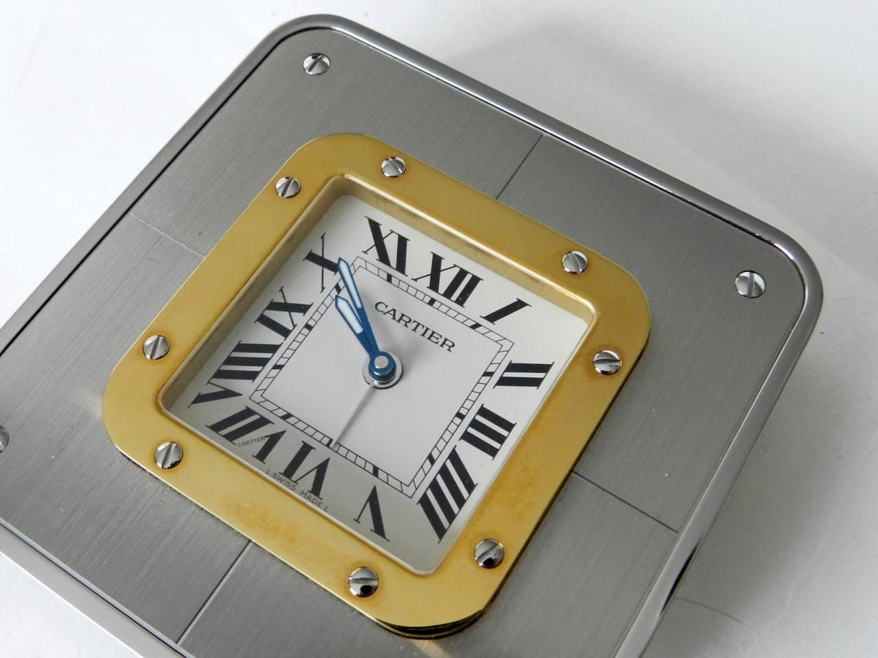 Cartier santos desk alarm clock in box at 1stdibs cartier santos desk alarm clock in box 3 amipublicfo Images
