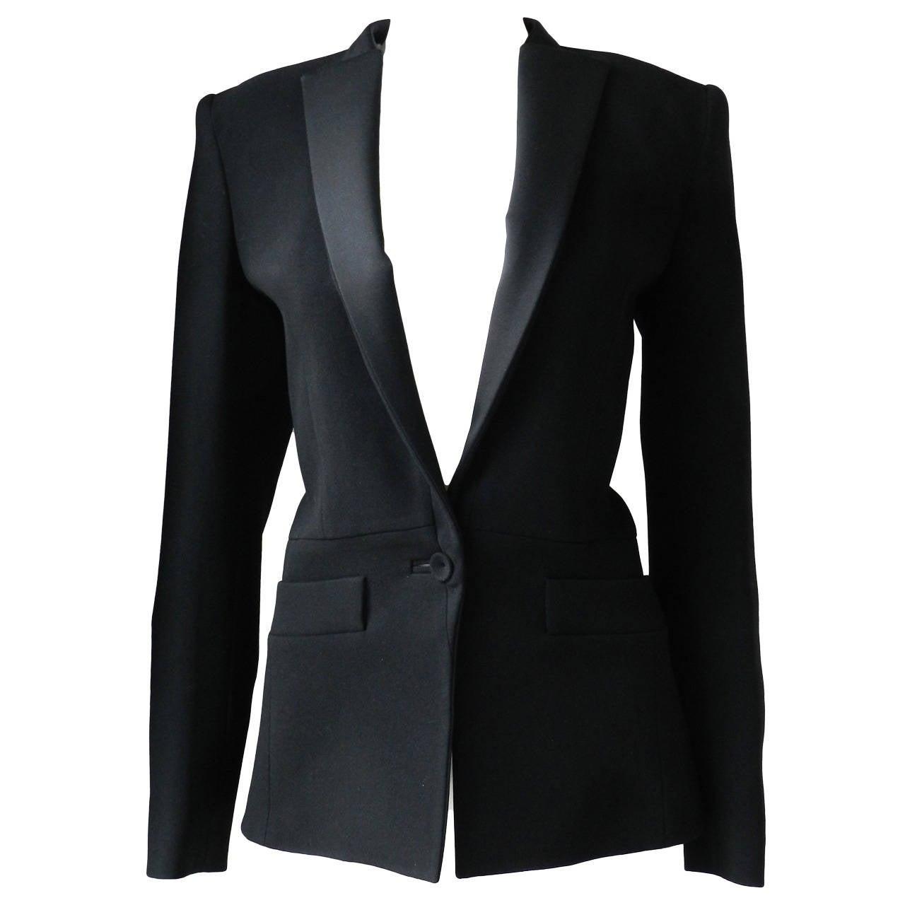 afd745681e9e Balenciaga Black Tuxedo Jacket at 1stdibs