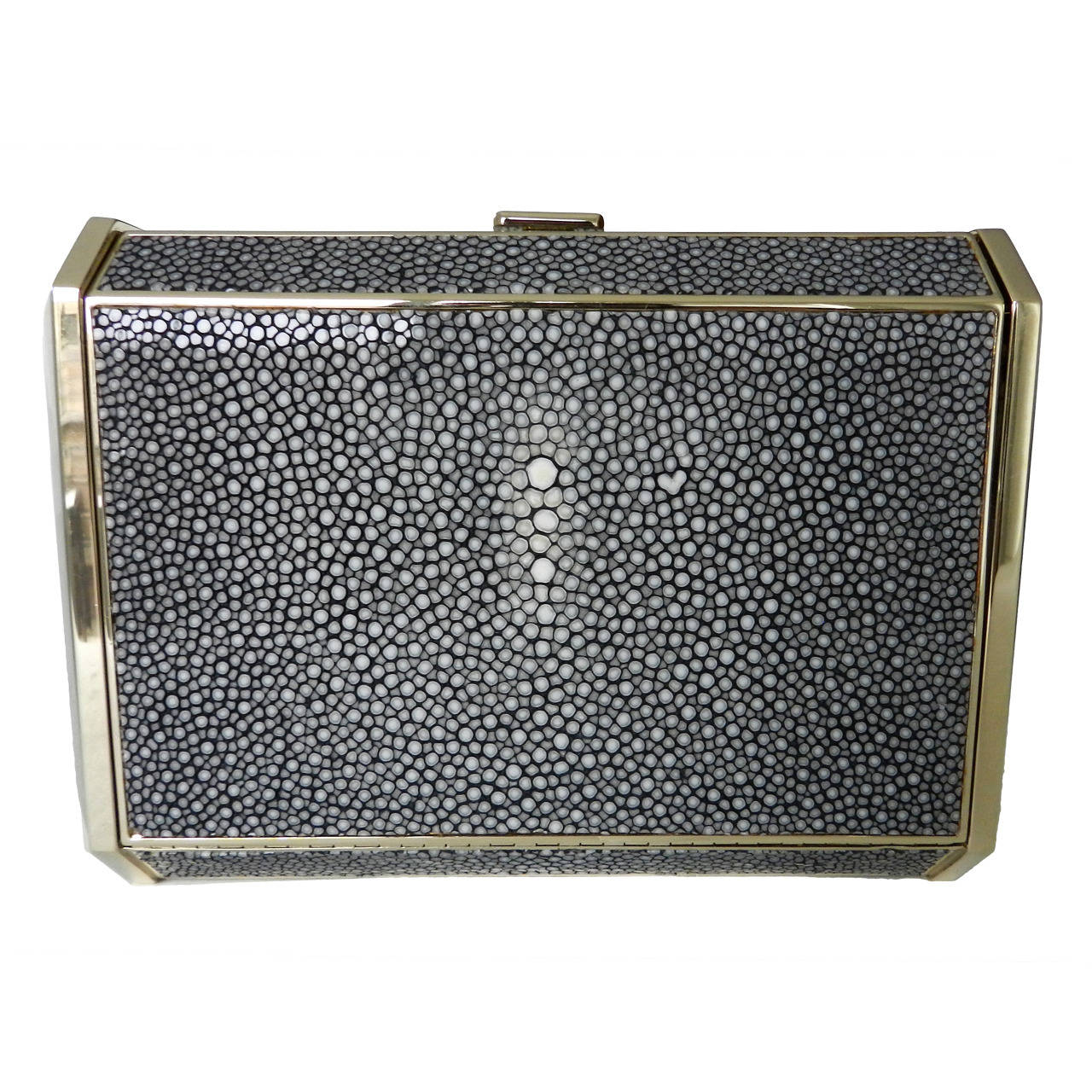 Lanvin Stingray And Resin Box Clutch Bag For
