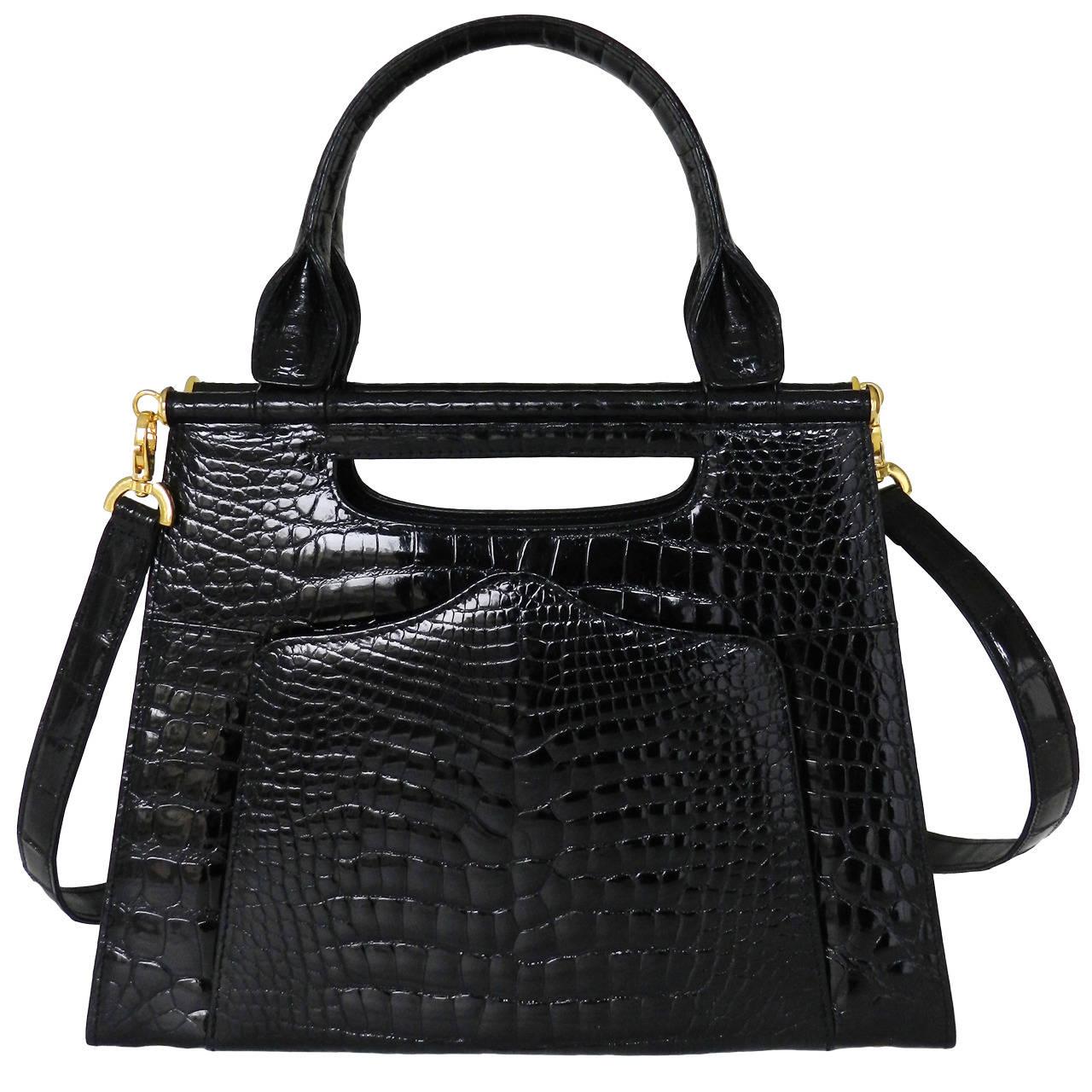 Lana Marks The Good Croc 3 In 1 Alligator Bag