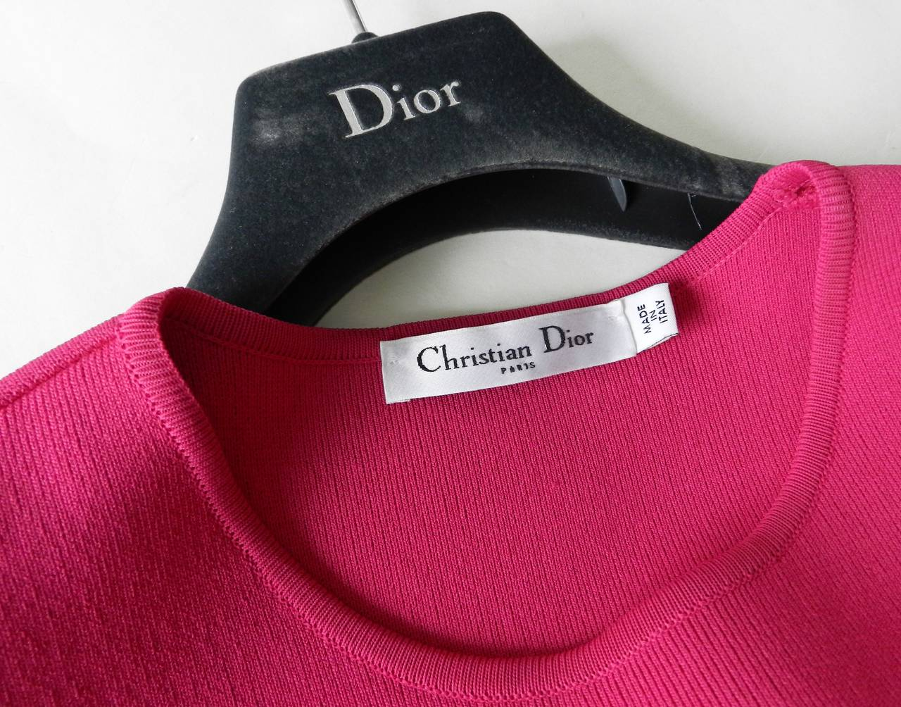 Christian Dior Galliano Hot Fuchsia Jersey Dress 4