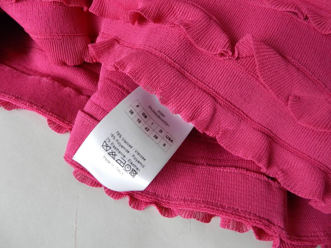 Christian Dior Galliano Hot Fuchsia Jersey Dress 5
