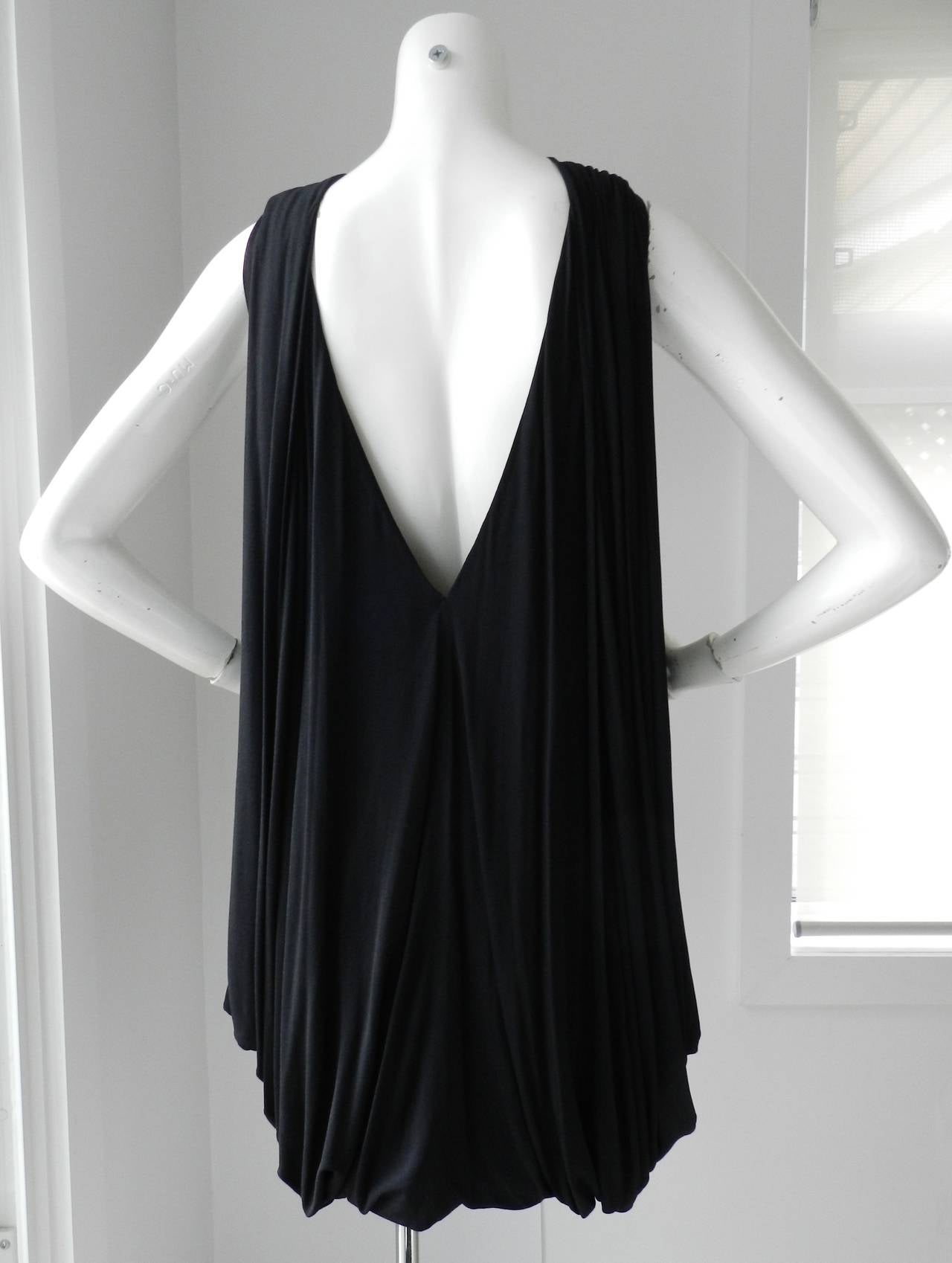 Gucci Black Jersey Draped Dress 3