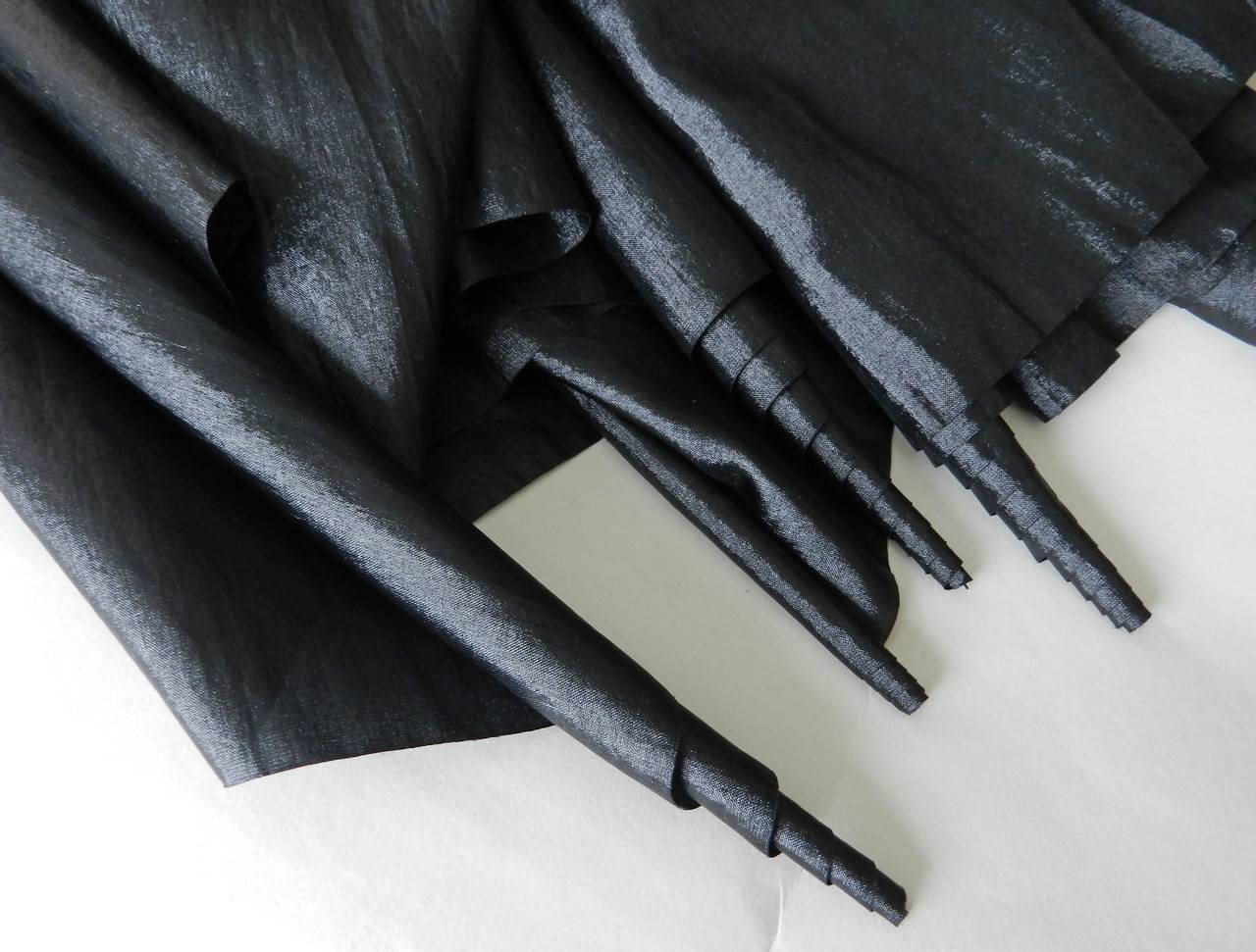 Issey Miyake Long Black Shiny Skirt 3