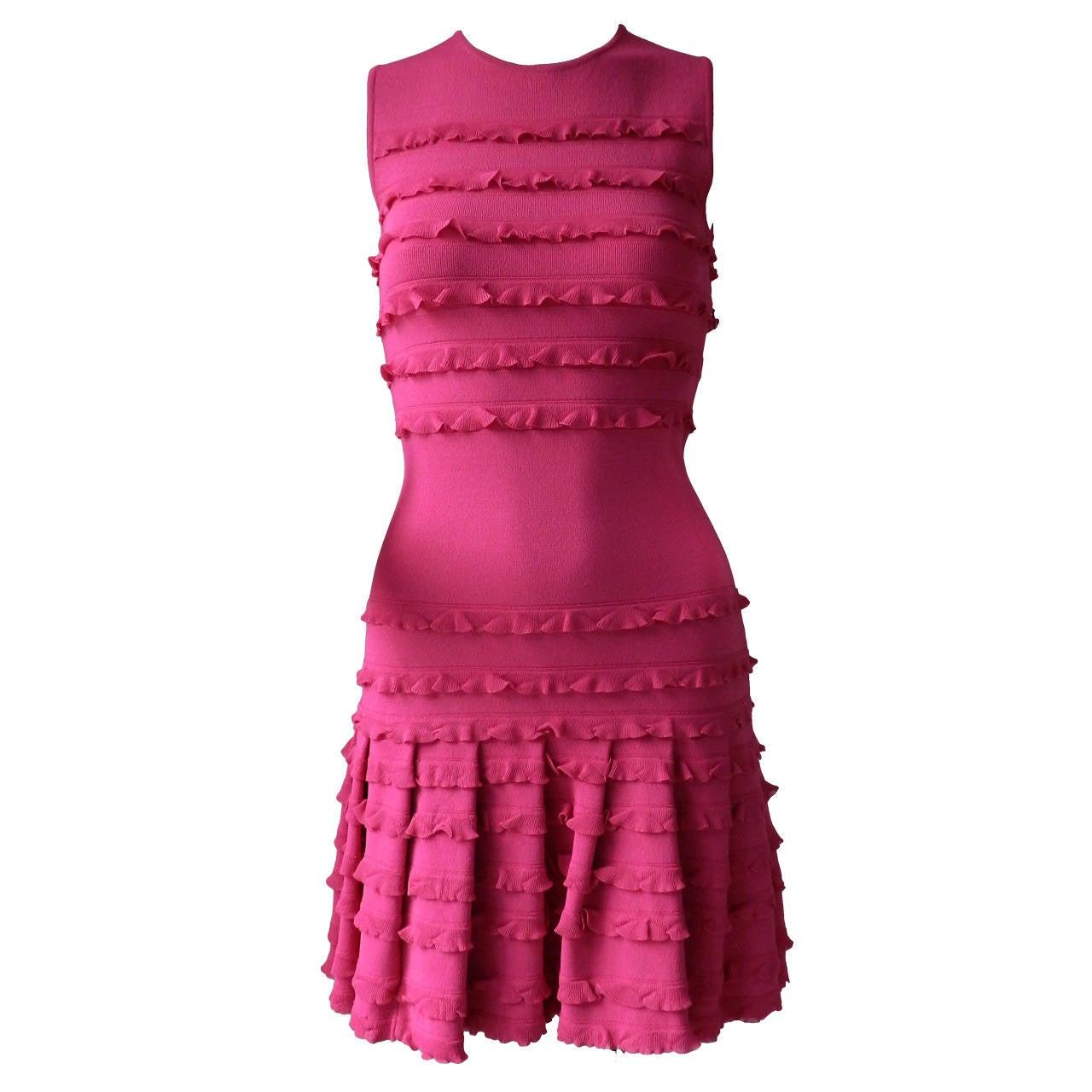 Christian Dior Galliano Hot Fuchsia Jersey Dress 1