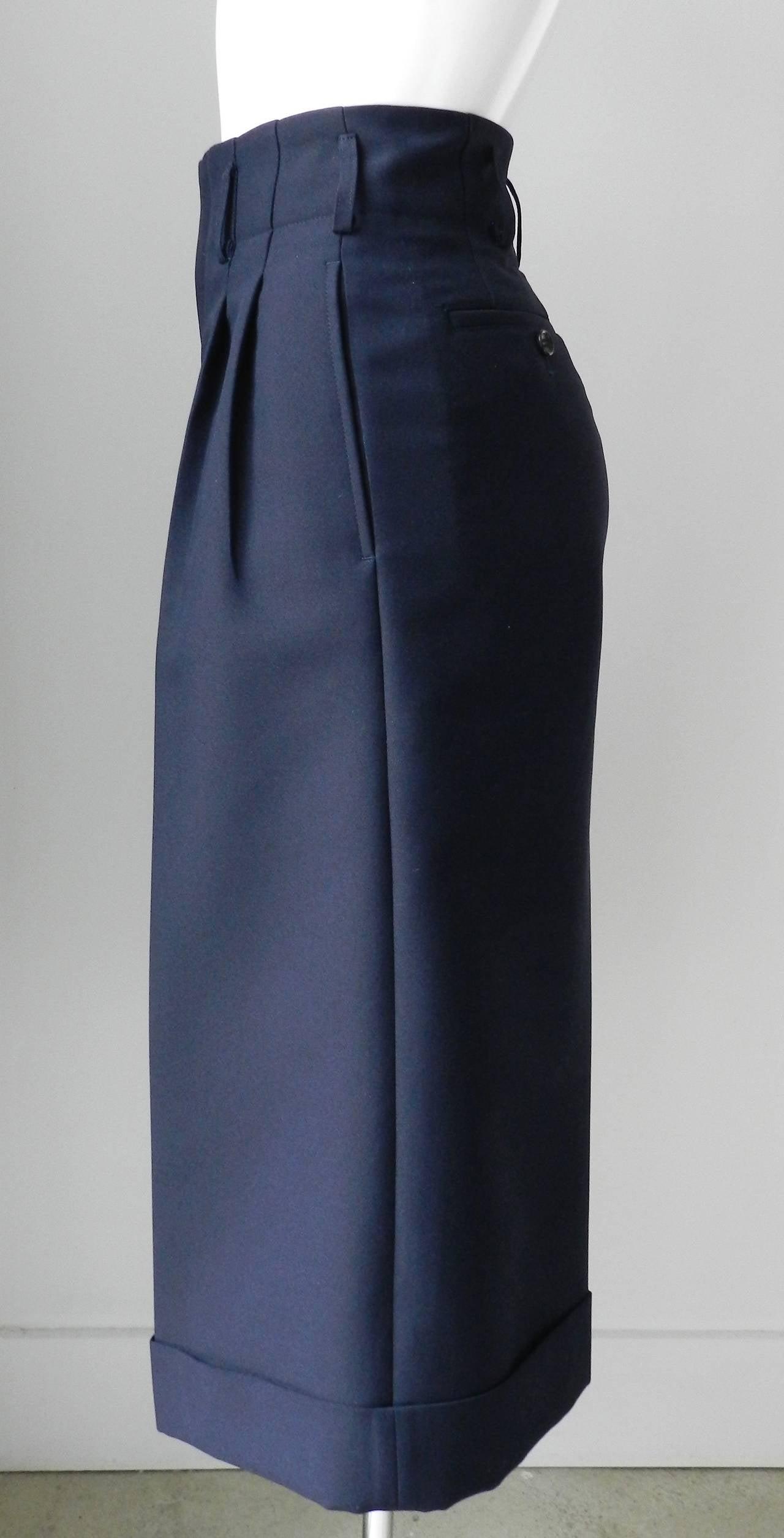 Comme des Garcons Navy Blue Culottes 2