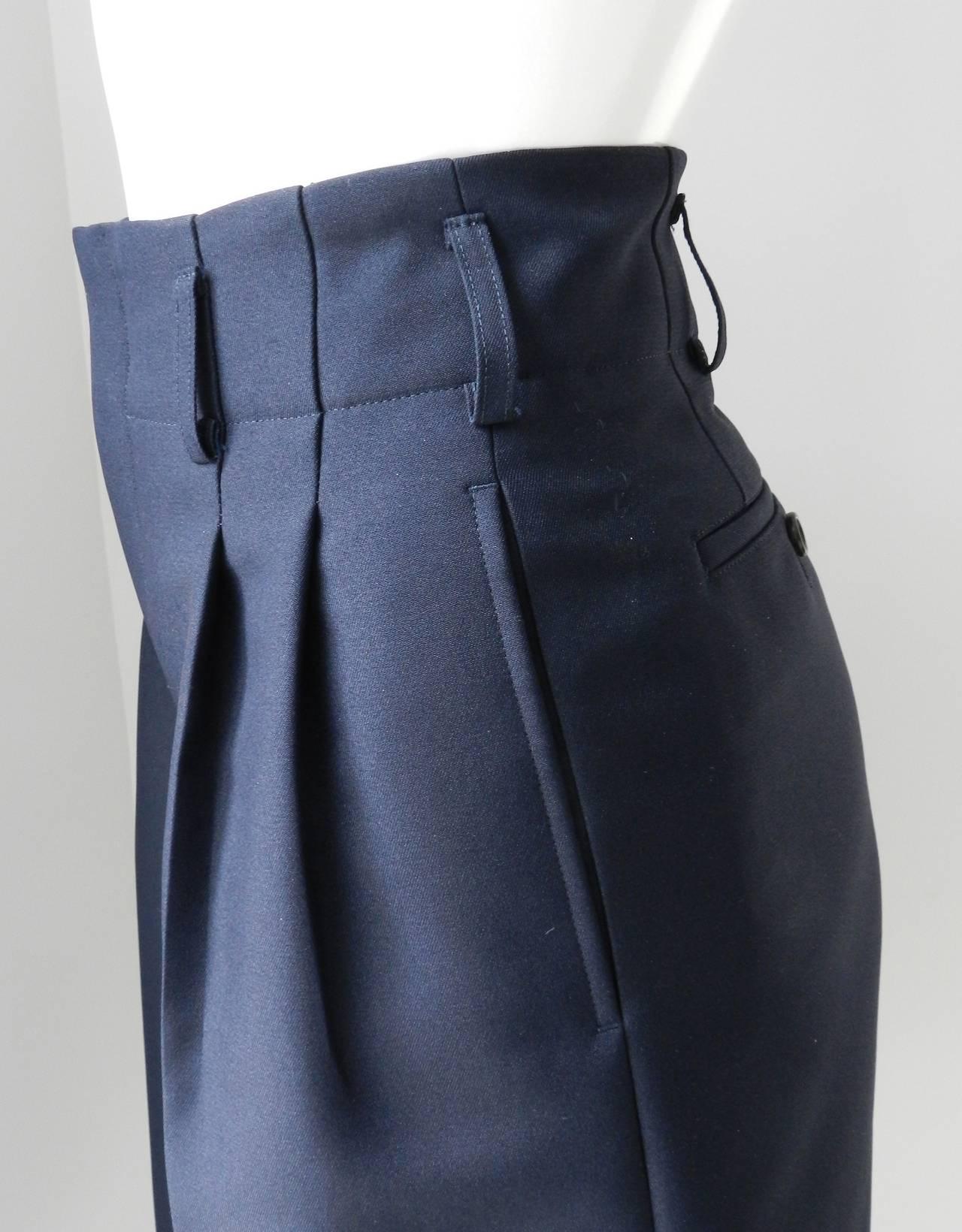 Comme des Garcons Navy Blue Culottes 4