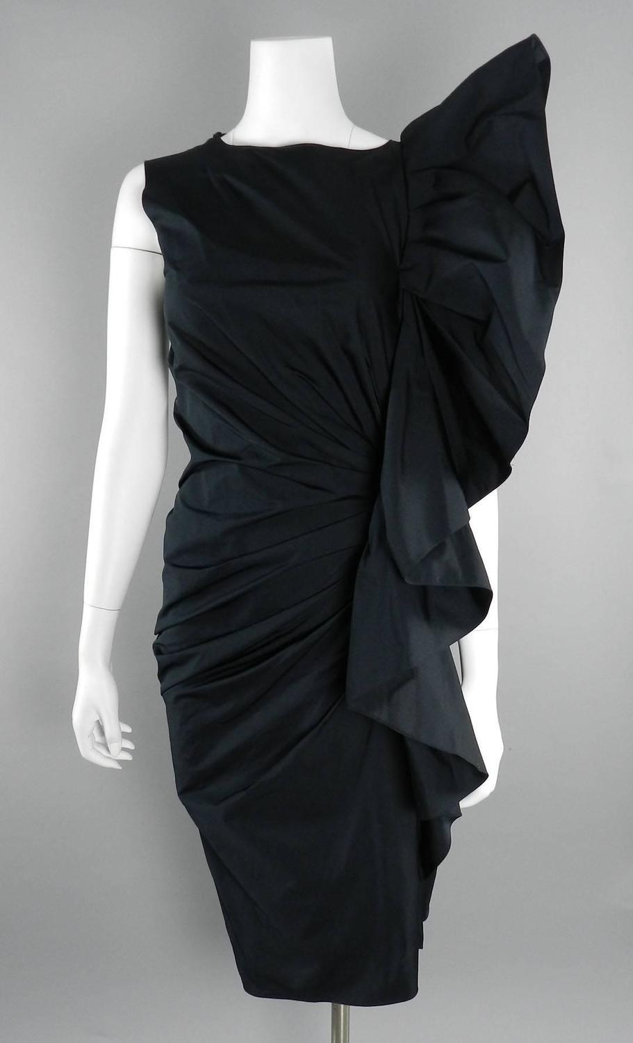 Lanvin Black Ruffle 10 Year Anniversary Dress 2012 At