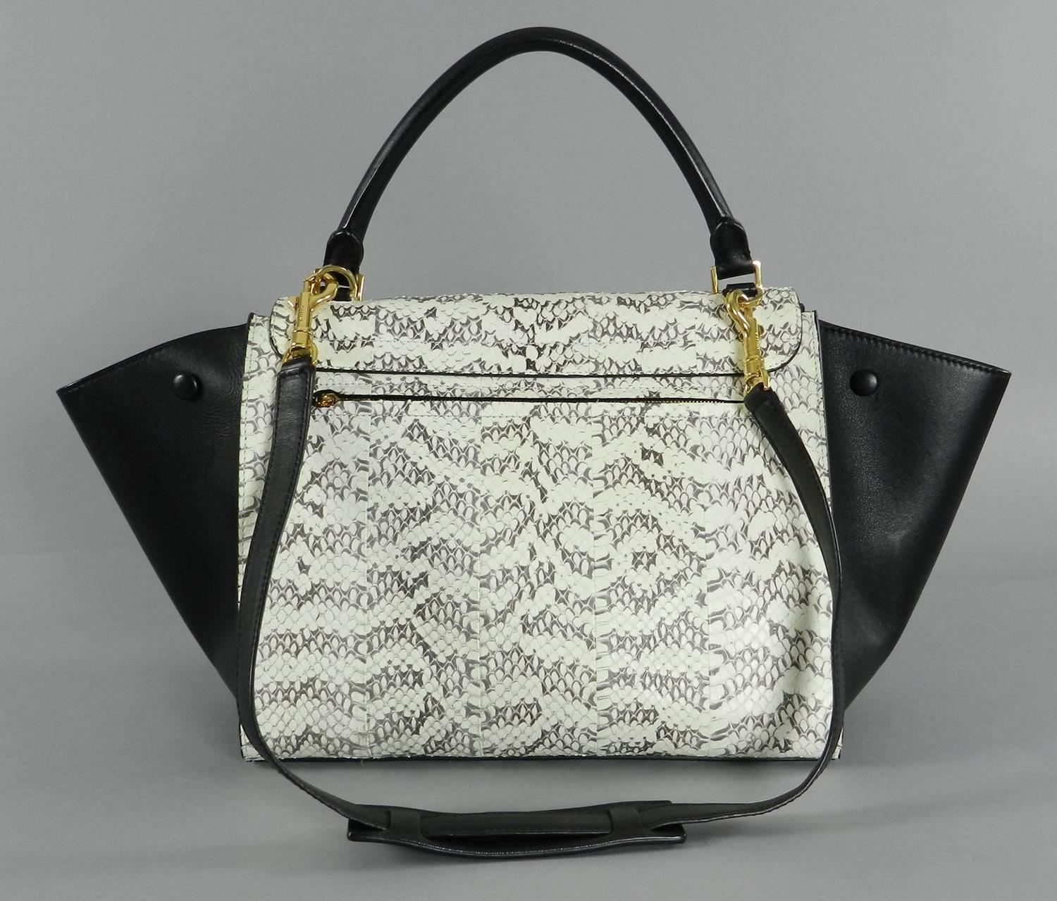 Celine Trapeze Python Small Bag For Sale at 1stdibs