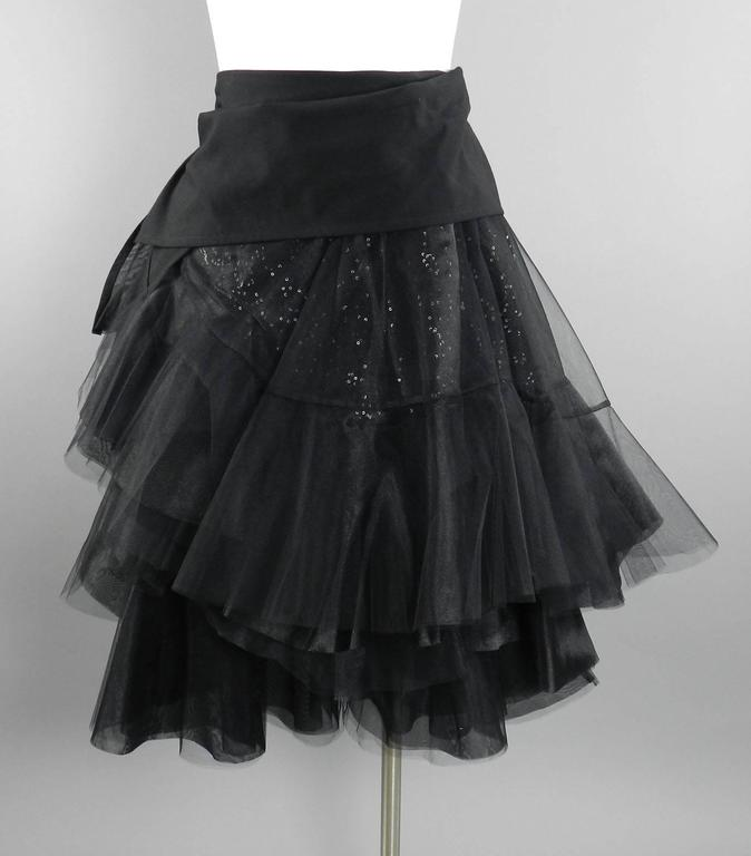 Junya Watanabe Comme des Garcons Fall 2014 Runway Tulle Skirt For Sale 6
