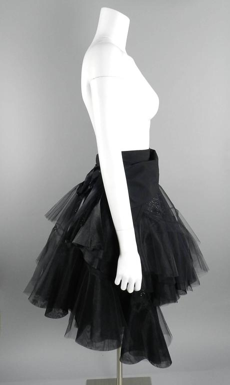 Women's Junya Watanabe Comme des Garcons Fall 2014 Runway Tulle Skirt For Sale