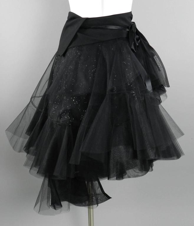 Junya Watanabe Comme des Garcons Fall 2014 Runway Tulle Skirt For Sale 2