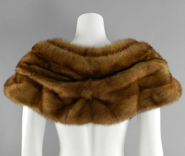 Women's Barneys New York Natural Mink Shawl / Capelet For Sale