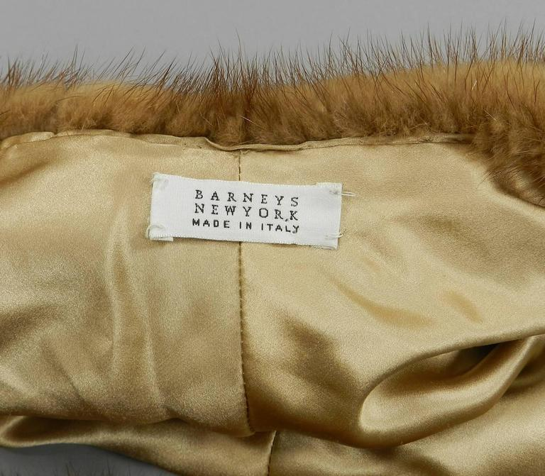 Barneys New York Natural Mink Shawl / Capelet For Sale 1