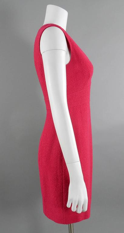 Chanel Vintage 1995 Hot Cherry Pink Wool Tank Dress 2