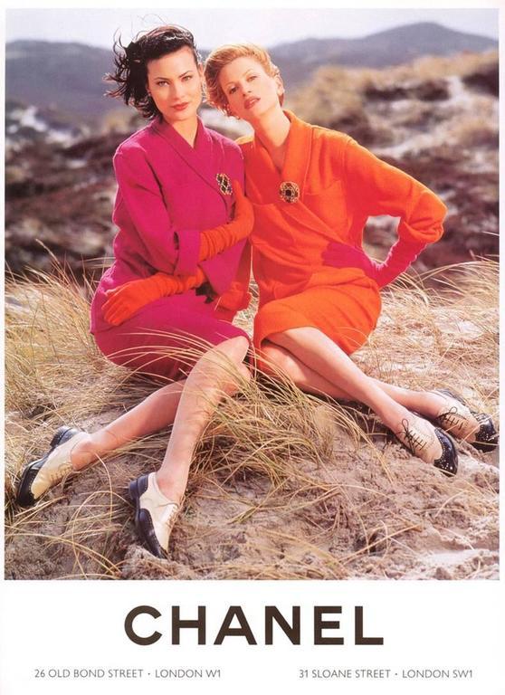 Chanel Vintage 1995 Hot Cherry Pink Wool Tank Dress 5