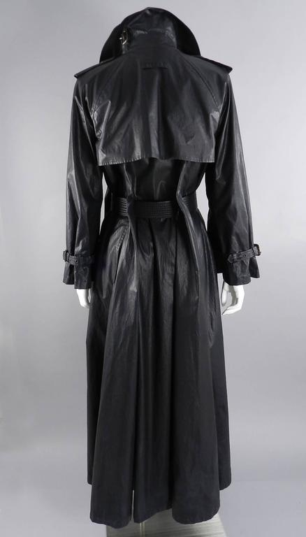 Jean Paul Gaultier Vintage Waxed Canvas Trench Coat In Excellent Condition For Sale In Toronto, CA