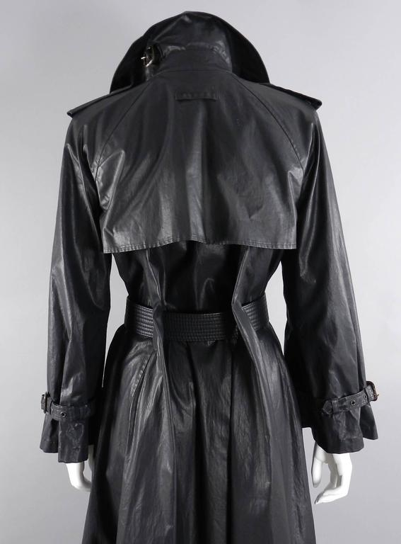Women's Jean Paul Gaultier Vintage Waxed Canvas Trench Coat For Sale