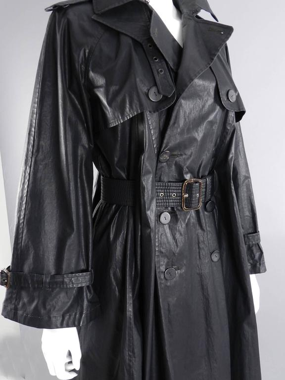 Jean Paul Gaultier Vintage Waxed Canvas Trench Coat For Sale 1
