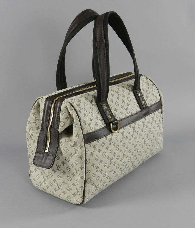 louis vuitton mini lin josephine gm canvas logo bag purse at 1stdibs