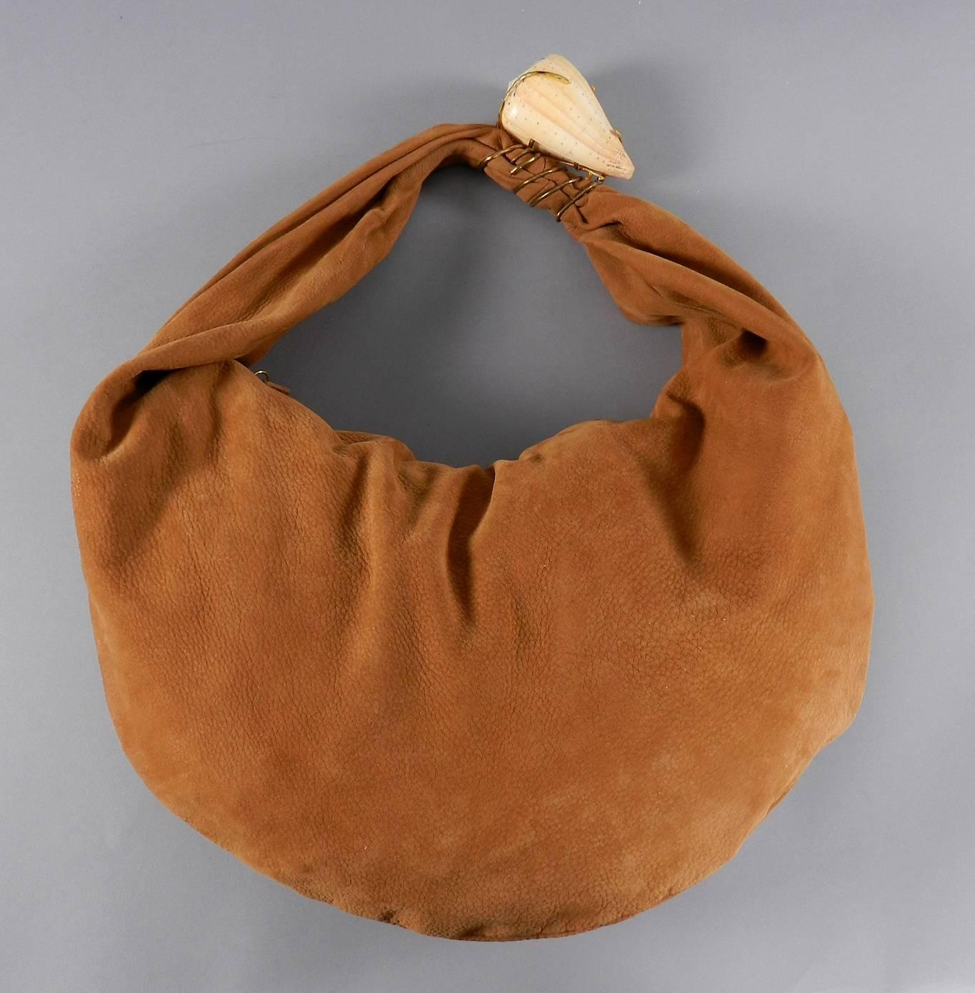YSL Yves Saint Laurent Haute Couture Tan Matte Leather Hobo Bag ...