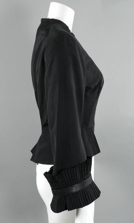 Women's Alexander McQueen Fall 2002 Black Silk Victorian Style Jacket For Sale