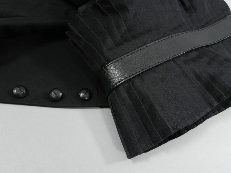 Alexander McQueen Fall 2002 Black Silk Victorian Style Jacket For Sale 6