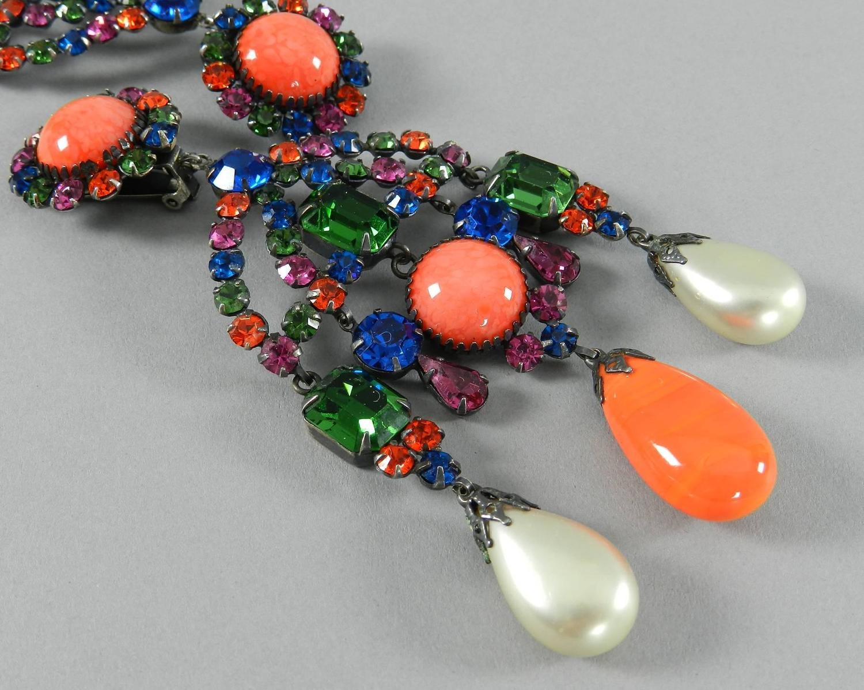 Kenneth Jay Lane Kjl Vintage 1960 S Chandelier Statement Earrings At 1stdibs