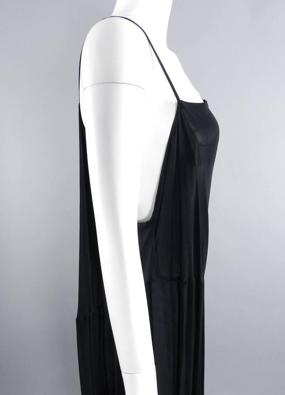 Yohji Yamamoto Vintage 1980's Black Long Sheer Dress 5