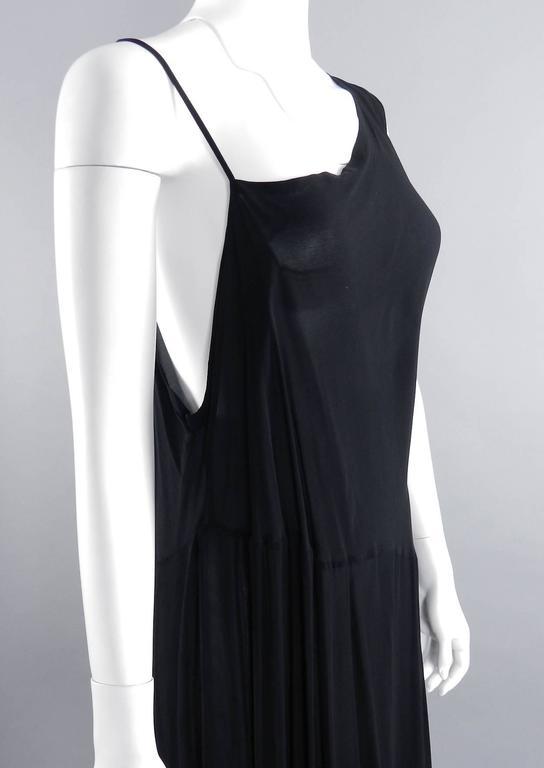 Yohji Yamamoto Vintage 1980's Black Long Sheer Dress 6