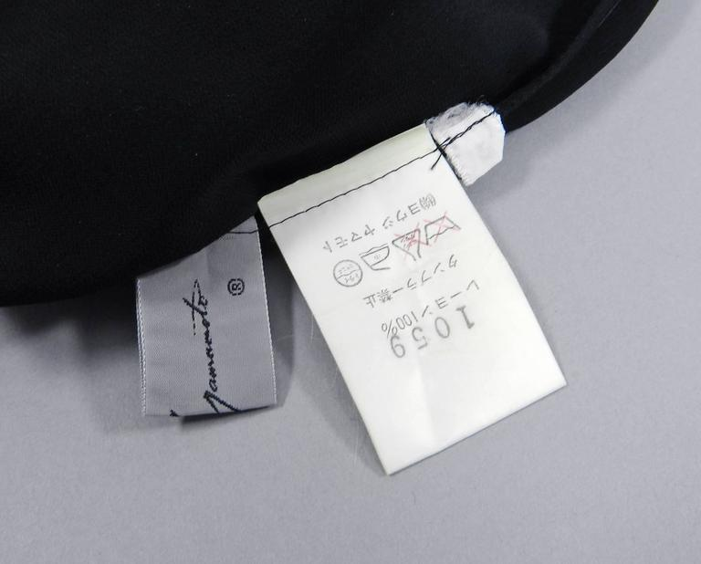 Yohji Yamamoto Vintage 1980's Black Long Sheer Dress 7