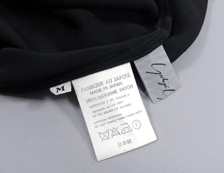 Yohji Yamamoto Vintage 1980's Black Long Sheer Dress 8