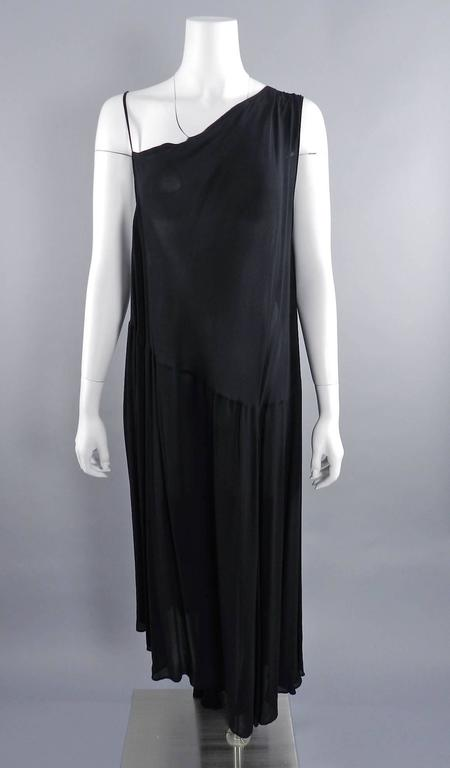 Yohji Yamamoto Vintage 1980's Black Long Sheer Dress 9