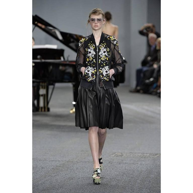 Erdem Danni Sheer Organza Silk Embroidered Bomber Jacket 2