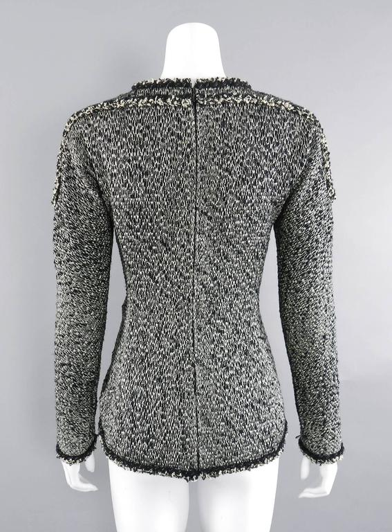 Chanel 11A Black and Ivory Long Sleeve Runway Top 5