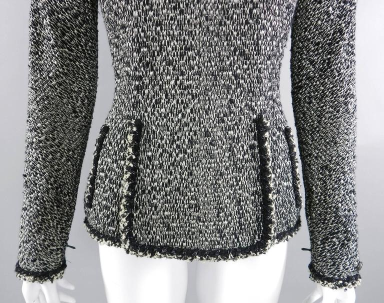 Chanel 11A Black and Ivory Long Sleeve Runway Top 6