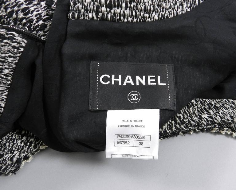 Chanel 11A Black and Ivory Long Sleeve Runway Top 8
