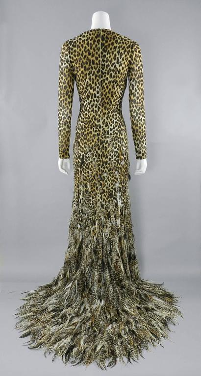 Giambattista Valli Haute Couture Fall 2011 Leopard and Feather Evening Gown 3